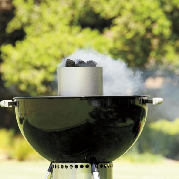 chimenea encendido carbon weber