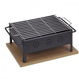 Barbacoa de sobremesa Sauvic® 30x25 cm (parrilla de acero inoxidable)