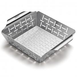 Cesta pequeña de acero inoxidable para hortalizas Weber® 19 x 24 x 5 cm