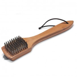 Cepillo metálico pequeño con mango de madera