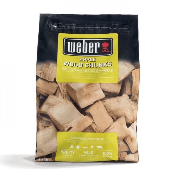 madera para ahumar weber manzano