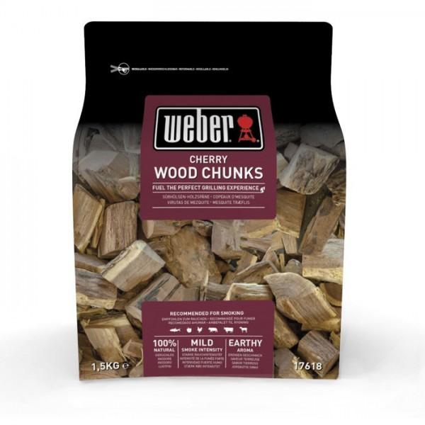 madera para ahumar weber cerezo