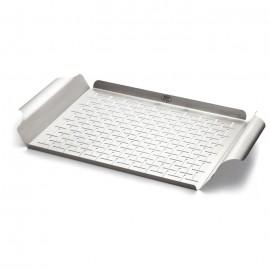 Plato de cocción de acero inoxidable Weber® 30 x 44 x 3.5