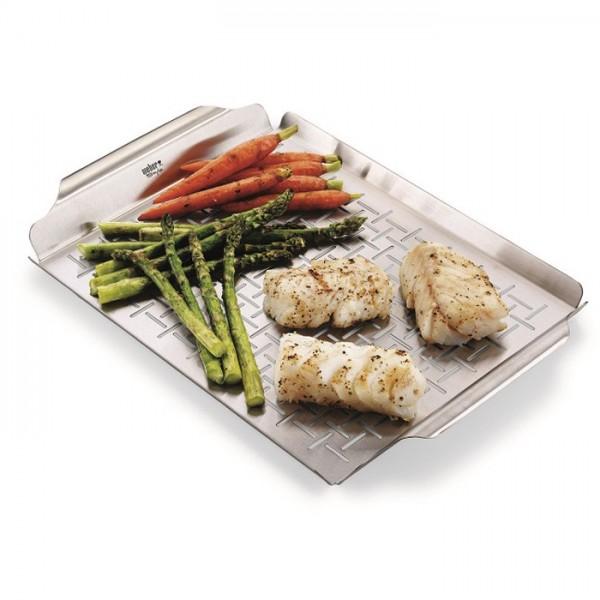 cesta verduras para barbacoas weber