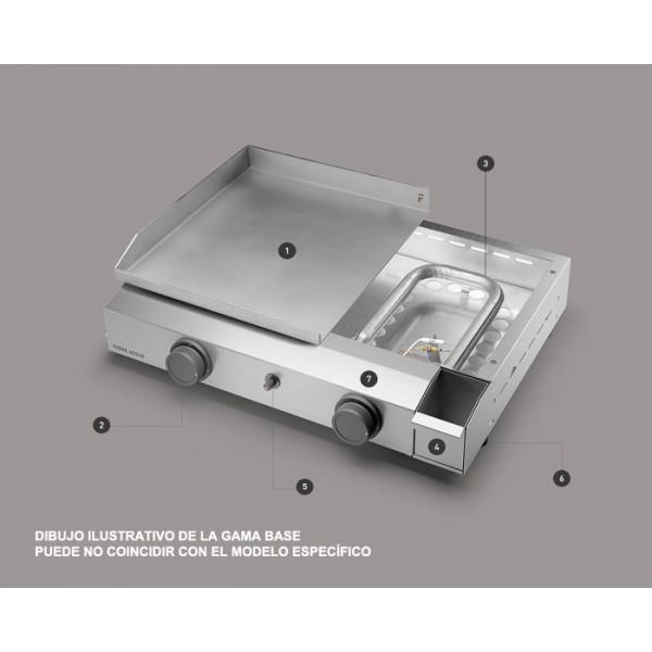 Plancha Forge Adour Base G60 Acero Esmaltado