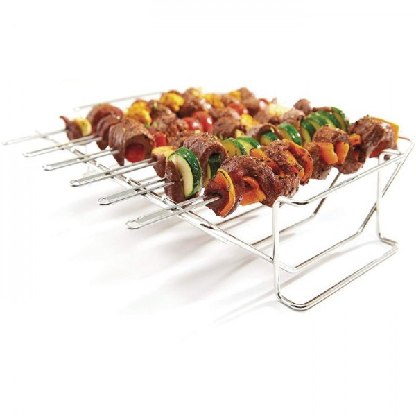 brochetas con soporte broil king