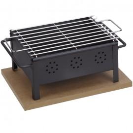 Barbacoa de sobremesa Sauvic® 25x20 cm (parrilla de acero inoxidable)