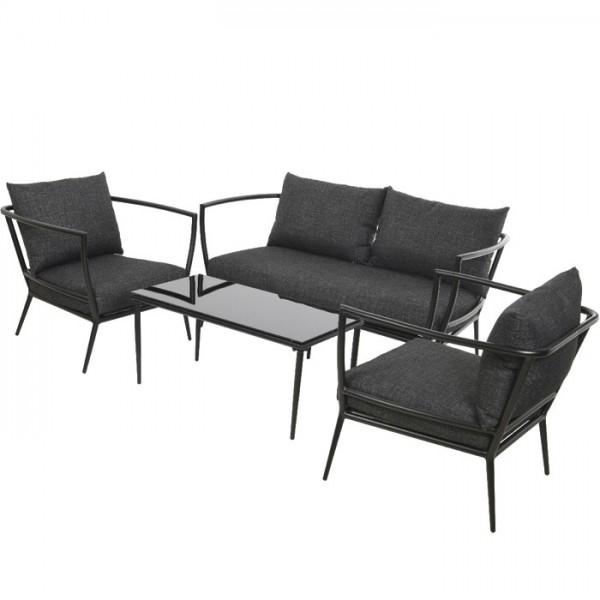 Conjunto Milan sofá + 2 butacas + mesa