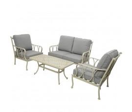 Conjunto Charleston sofá + 2 butacas + mesa