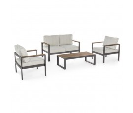 Conjunto Elías sofá + 2 butacas + mesa