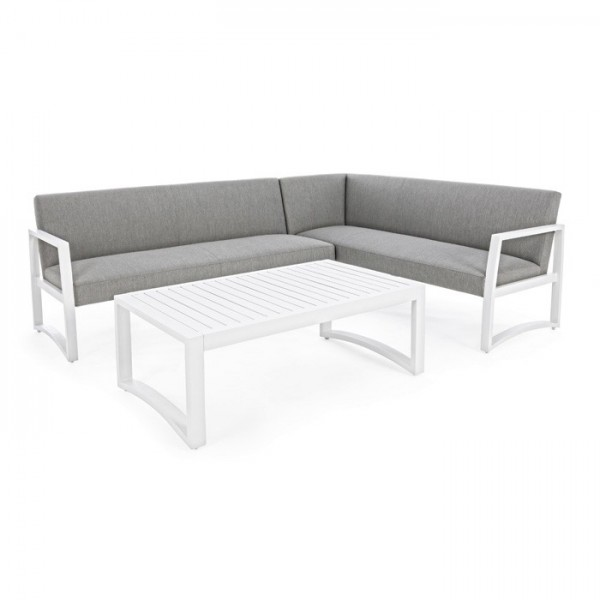 Conjunto Krystelle sofá L + mesa