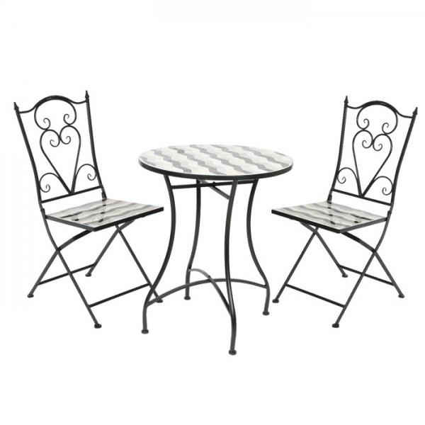 Conjunto Prague mesa + 2 sillas