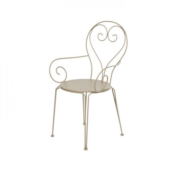 Conjunto Iron Round Ø70cm taupe mesa + 2 sillas