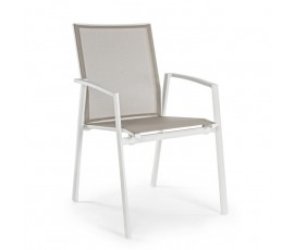 Silla con brazos Cruise, color blanco