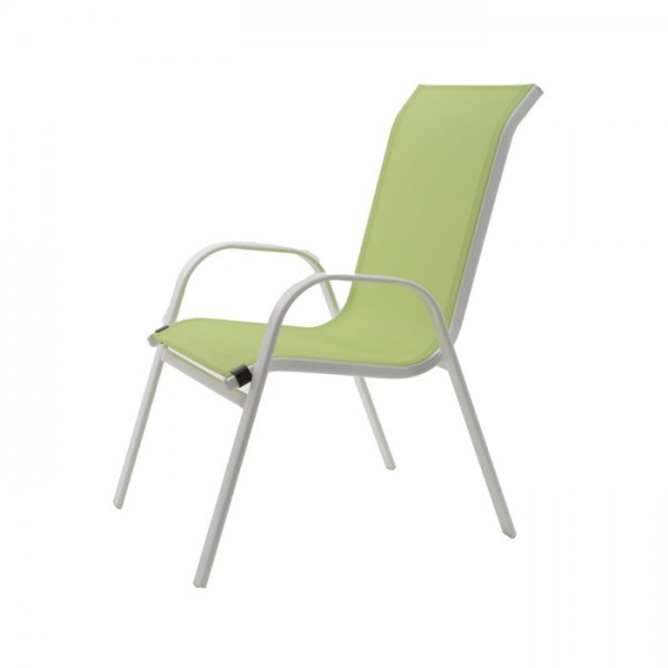 steel text stacking chair outd