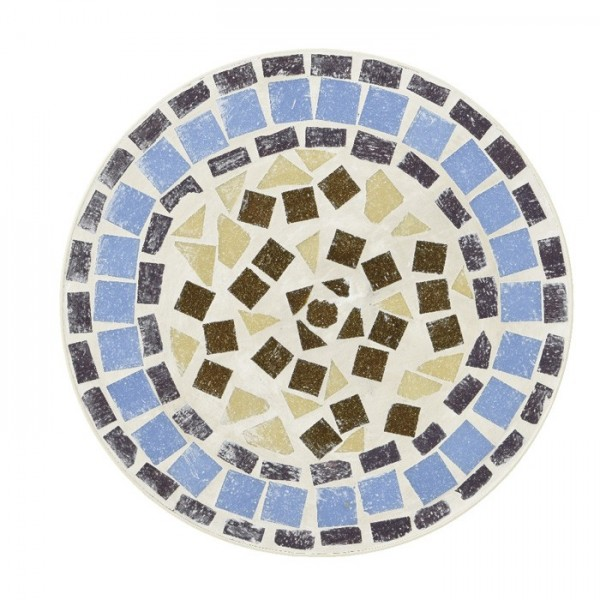 Silla plegable con mosaico