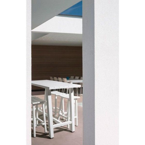 Mesa bar Skipper 130x73, color blanco