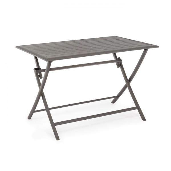 Mesa plegable Elin 110x70, color chocolate