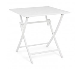 Mesa plegable Elin 70x70, color blanco