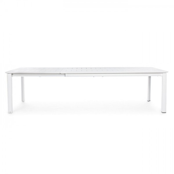 Mesa extensible Konnor 200-300x110, color blanco