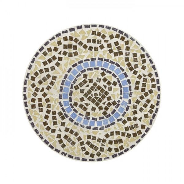Mesa metálica con mosaico Ø60