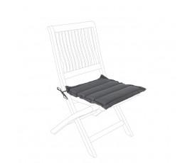 Cojín acolchado para asiento, color gris humo
