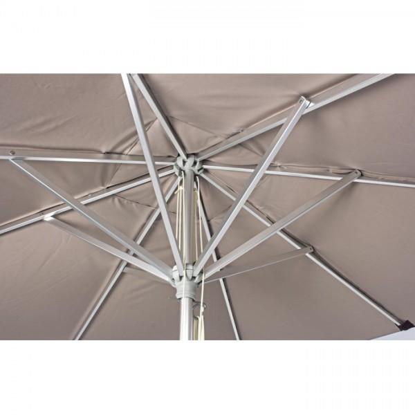 Sombrilla Venezia 3x3m, color gris pal