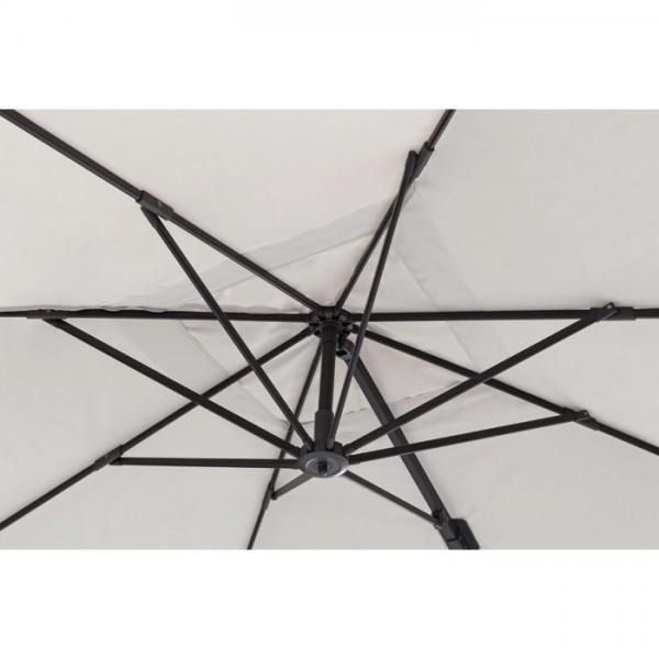 Sombrilla excéntrica Parigi 3x3m, color arena