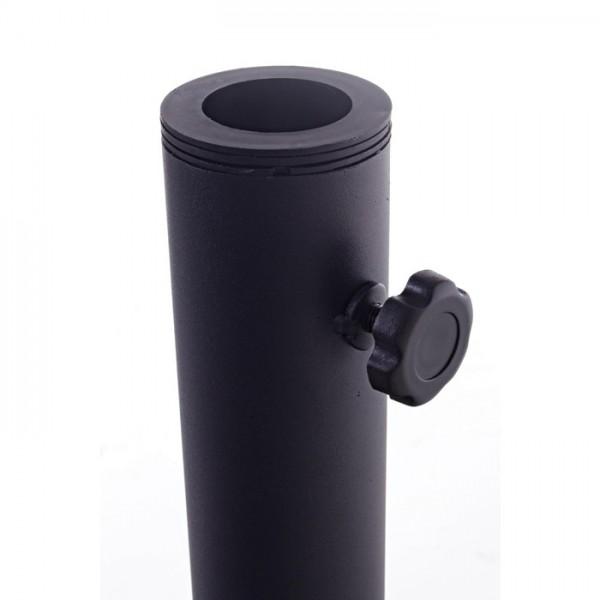Base parasol Barry Red 25 Kg, color negro