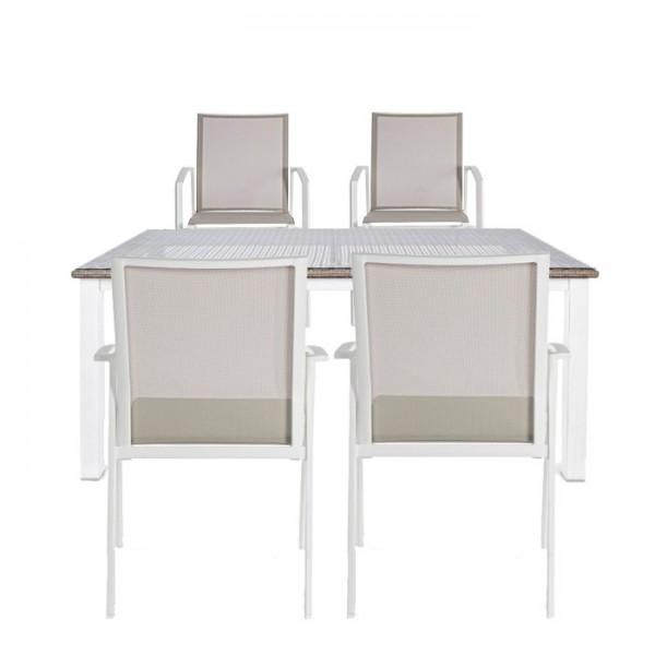 Conjunto mesa Forrest + 4 sillas Cruise