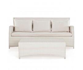 Conjunto diván + mesa Gardenia