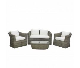 Conjunto Brady sofá + 2 butacas + mesa