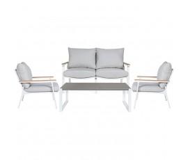 Conjunto Metropolitan sofá + 2 butacas + mesa