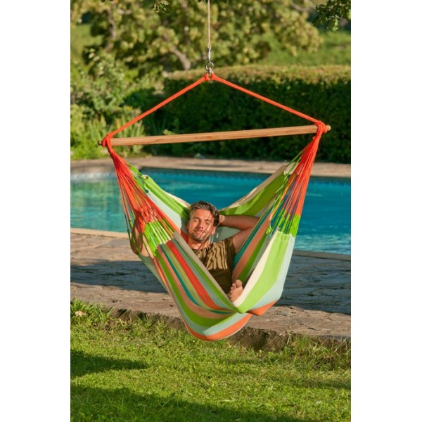Silla colgante Lounger Domingo, color ciruela