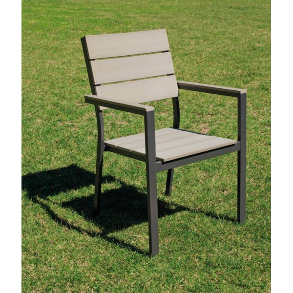 Conjunto Soracul, mesa + 4 sillas + 2 tumbonas