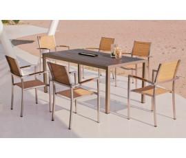 Conjunto Eden/Viena, mesa + 6 sillas