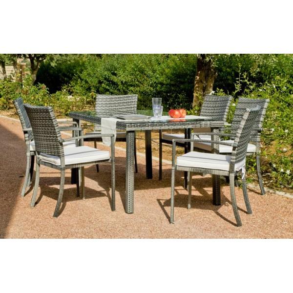 Conjunto Rimini, mesa + 4 sillas