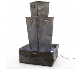 Fuente de niveles con acabado metal antiguo, 53x53