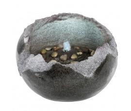 Fuente en forma de roca abierta, iluminación LED