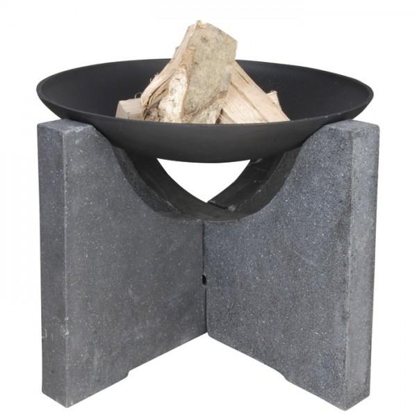 Brasero para jardín Ø59cm con pies de granito