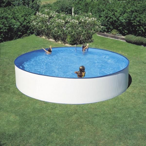 Piscina de acero blanco Lanzarote Ø 450 x 90