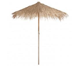 Parasol de paja natural 2,5x2,5m