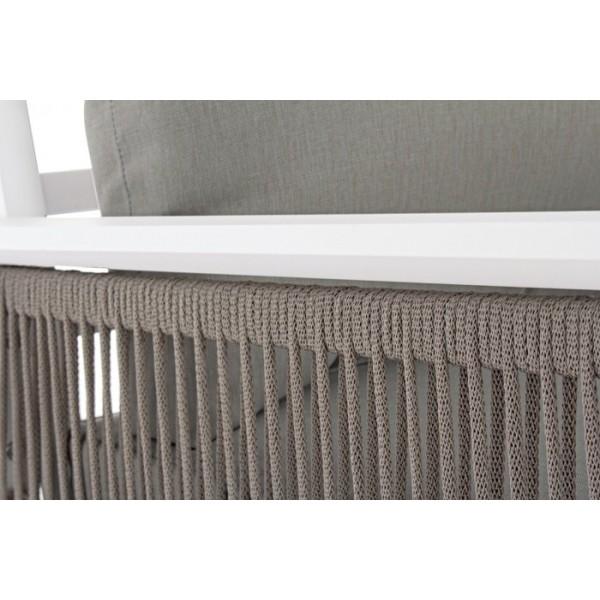 Conjunto angular Captiva sofá + mesa, color blanco