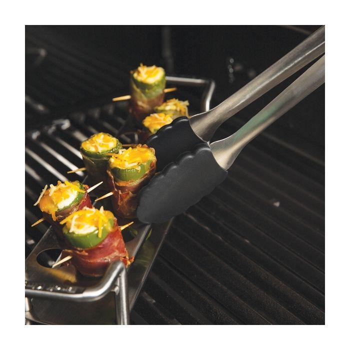 Pinza con bloqueo de acero inoxidables y punta de silicona - Pinzas barbacoa ...