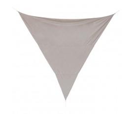 Toldo vela triángulo 5x5m, color visón