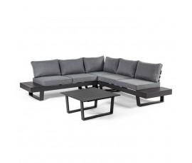 Conjunto Crozet sofá en L + mesa