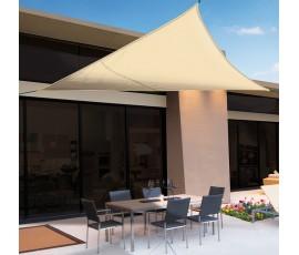 Vela de sombreo impermeable Sunnet Kit triangular 3,6x3,6x3,6m beige