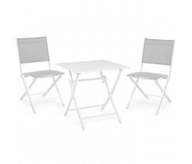 Conjunto Elin mesa 70x70 + 2 sillas, color blanco