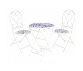 Conjunto Paros Ø60cm mesa + 2 sillas